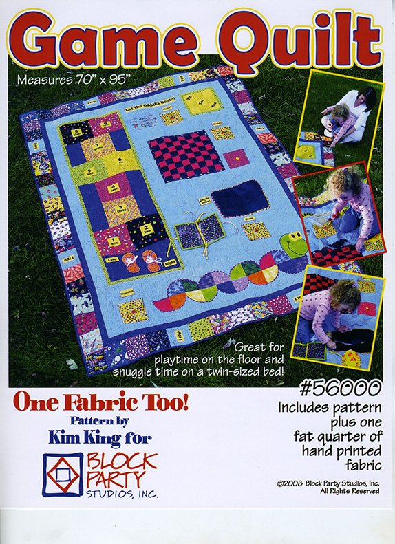 Game Quilt Pattern and Panel