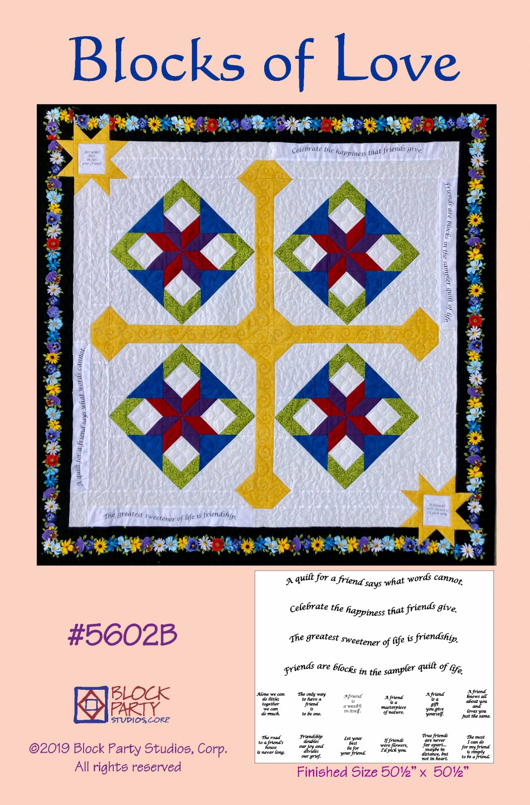 Blocks of Love Pattern and Panel
