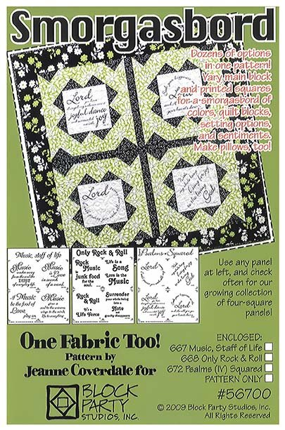 Smorgasbord Quilt Pattern with Our America Fabric Panel