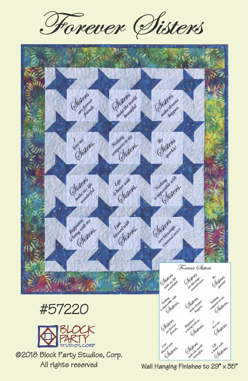 Forever Sisters Pattern and Fabric Panel
