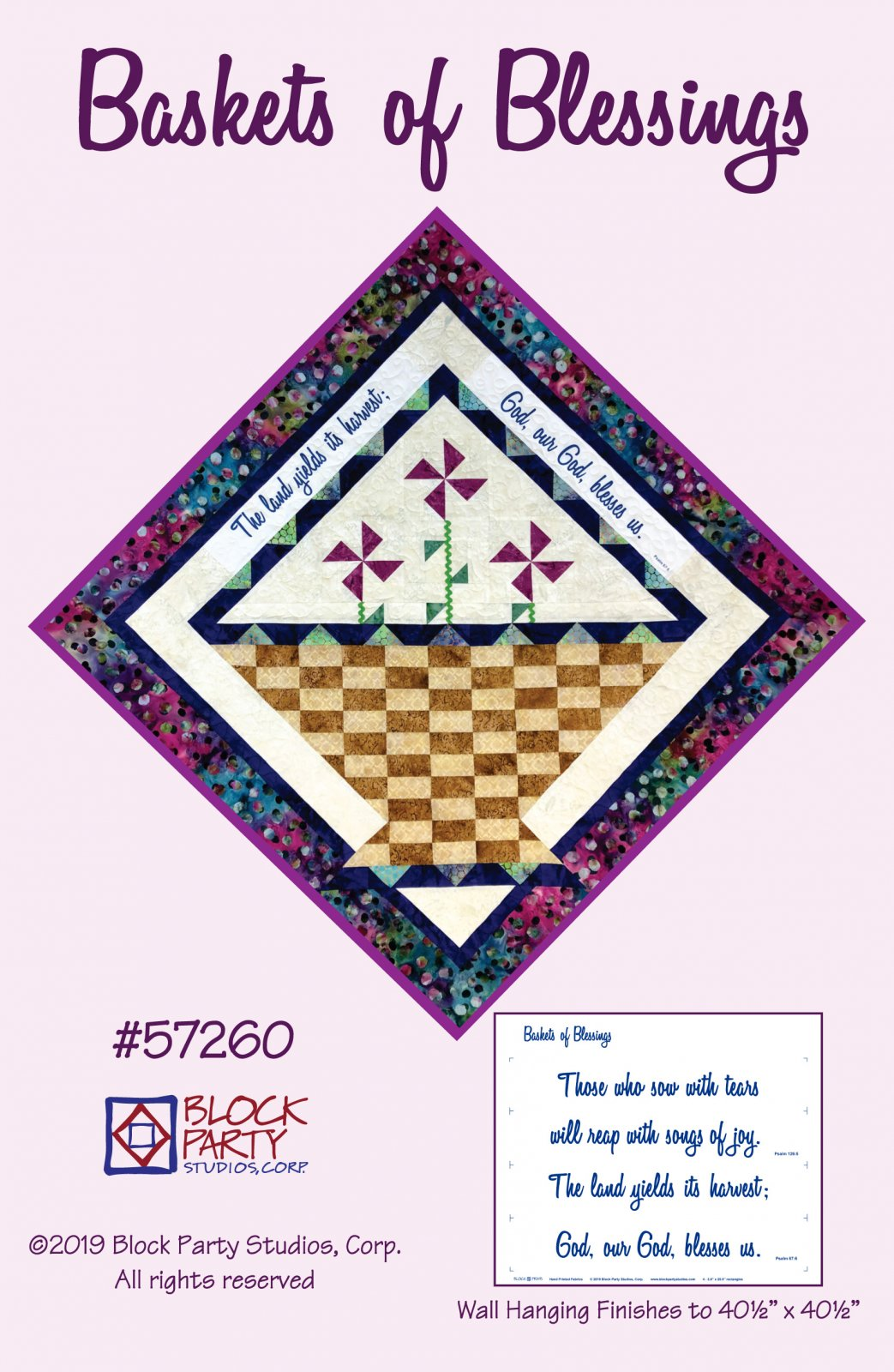 Baskets of Blessings Pattern and Panel