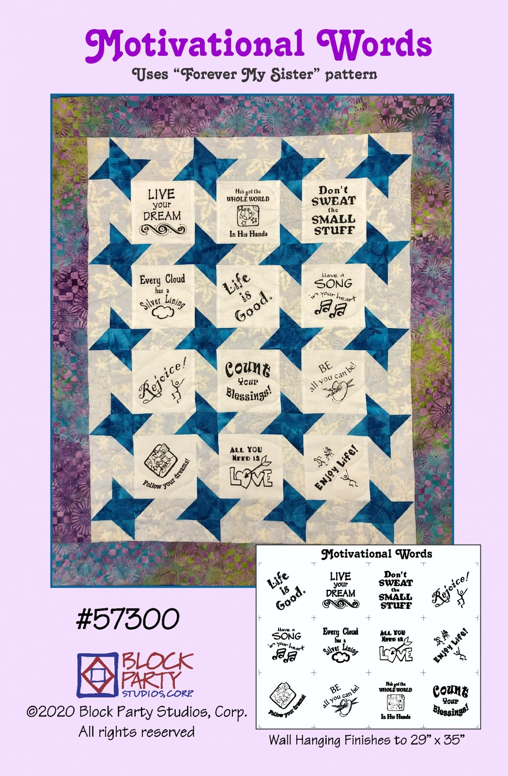 Motivational Words Pattern and Panel