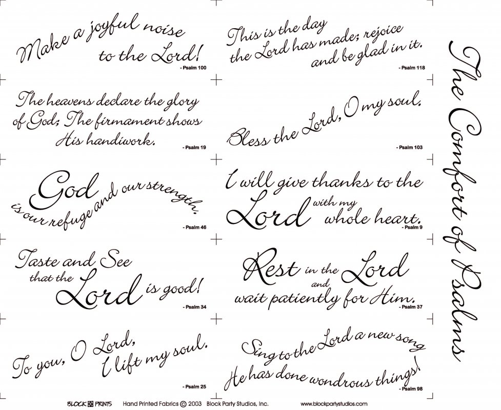 Scripture Variety Pack w/ Free Comfort of Psalms Pattern