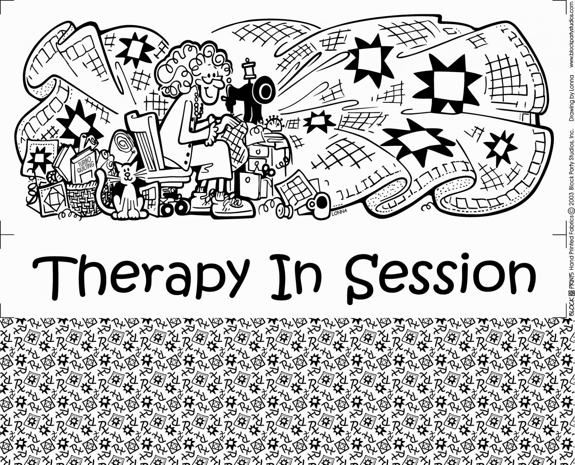 Therapy in Session Quilt Fabric Panel