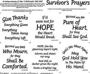 Survivors Prayer