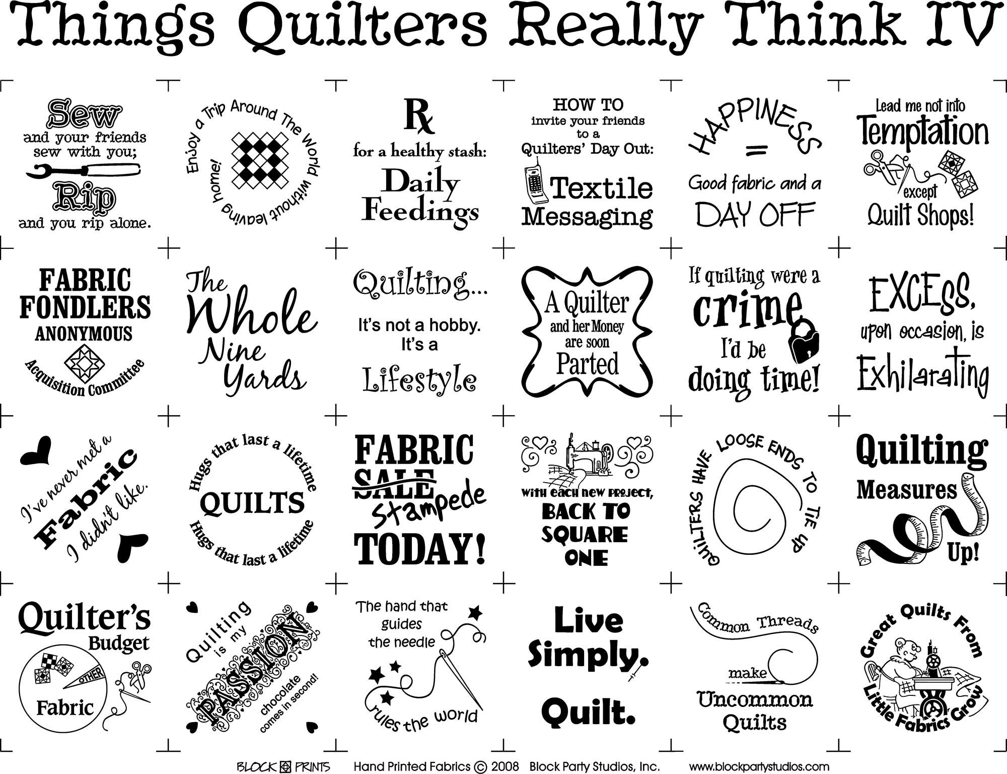 Things Quilters Really Think IV Panel