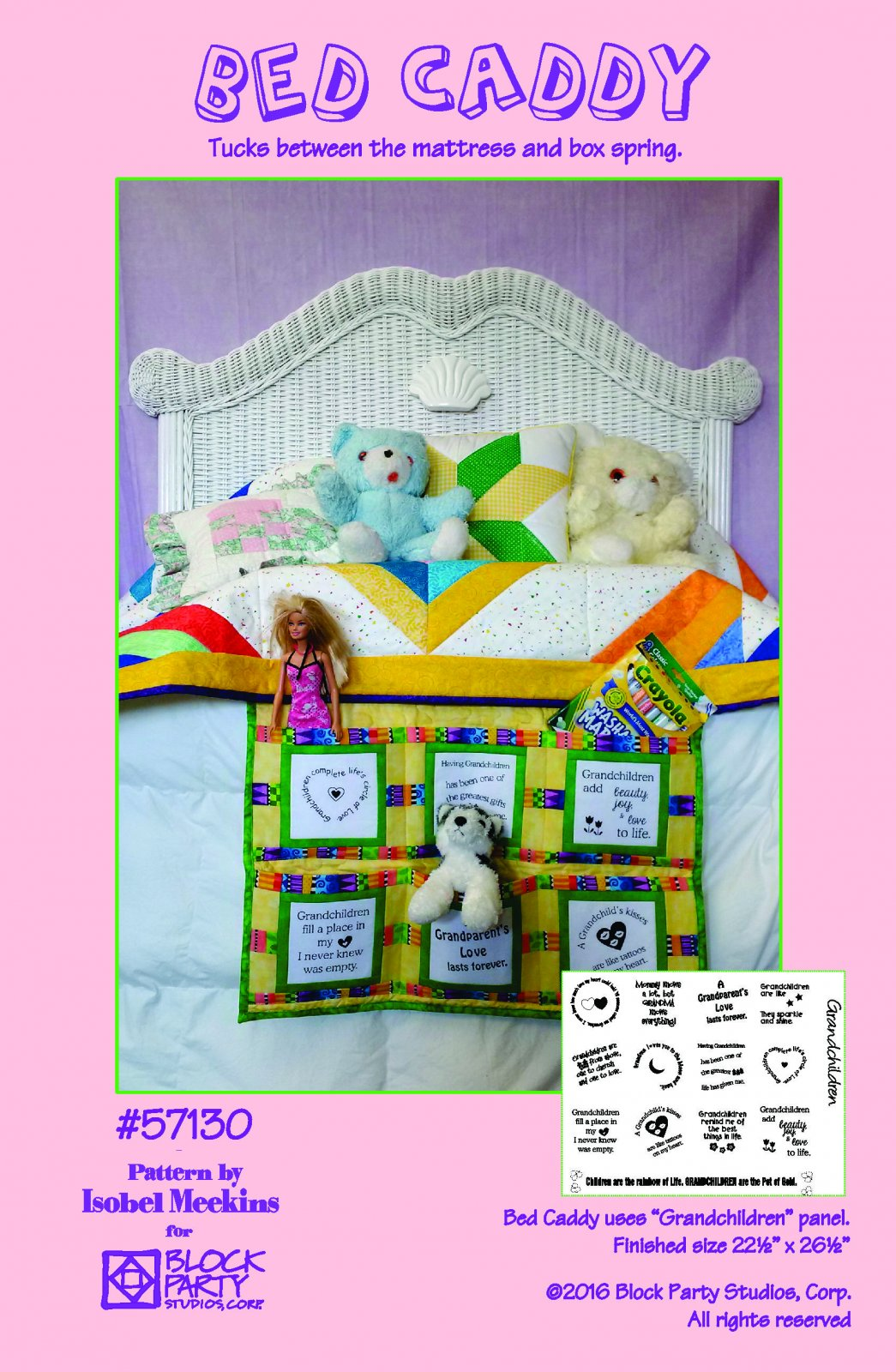Bed Caddy Pattern Only