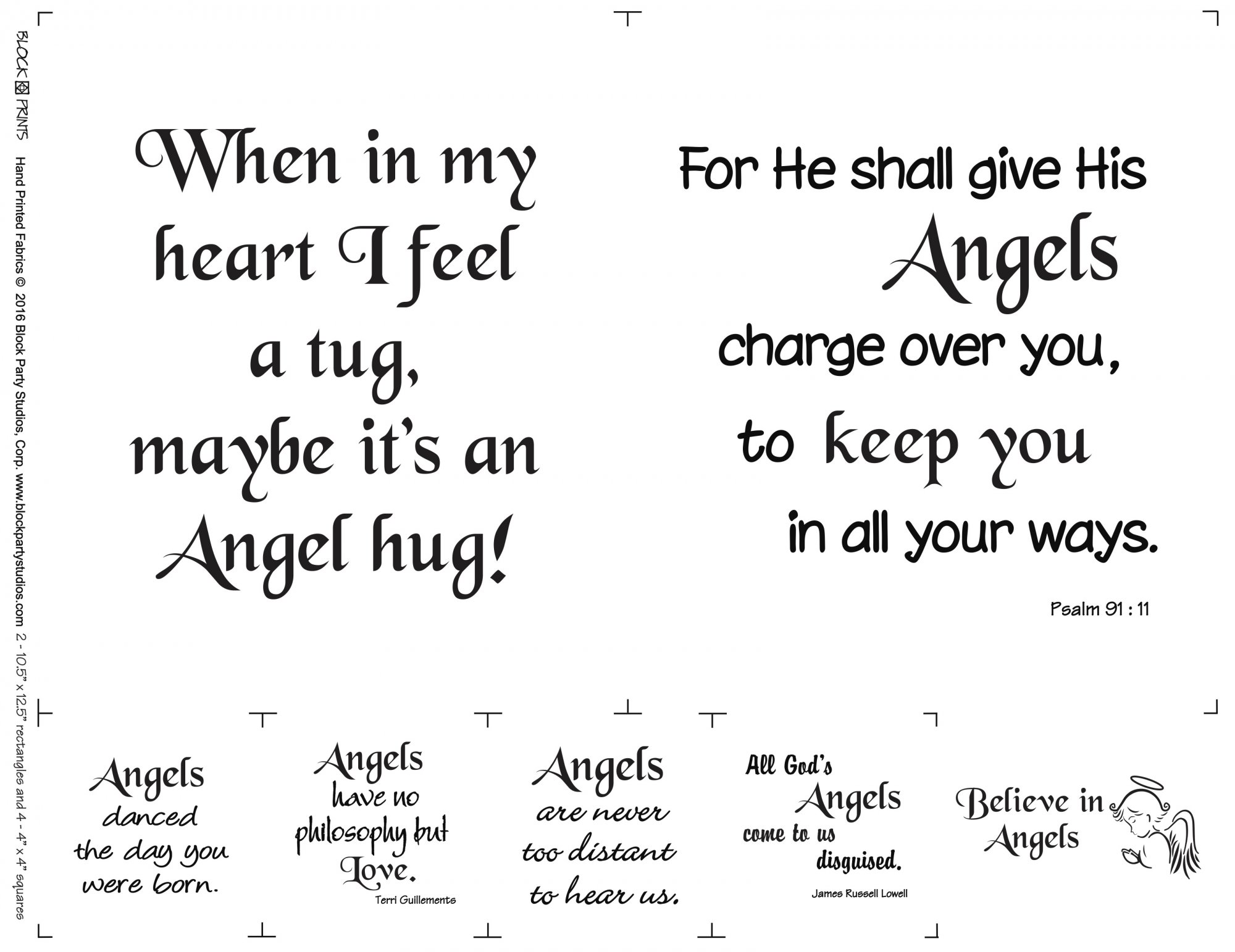 Believe in Angels Fabric Panel