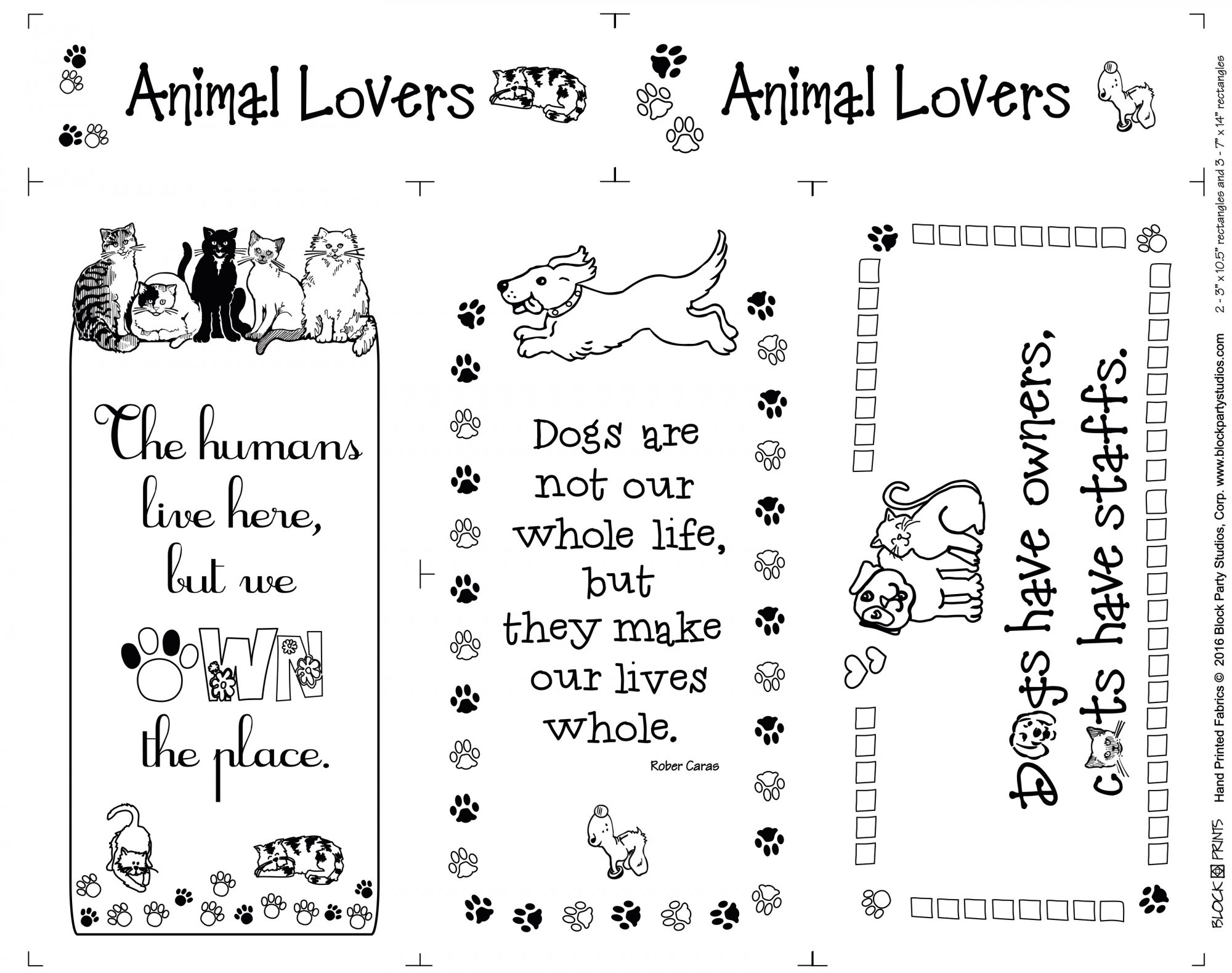 Animal Lovers Fabric Panel