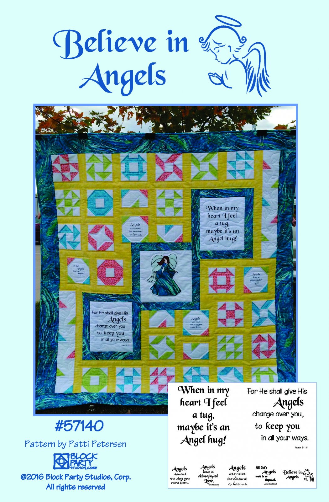 Believe in Angels Pattern & Panel