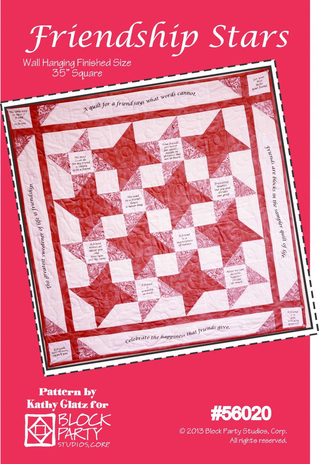 Friendship Stars Pattern and Panel
