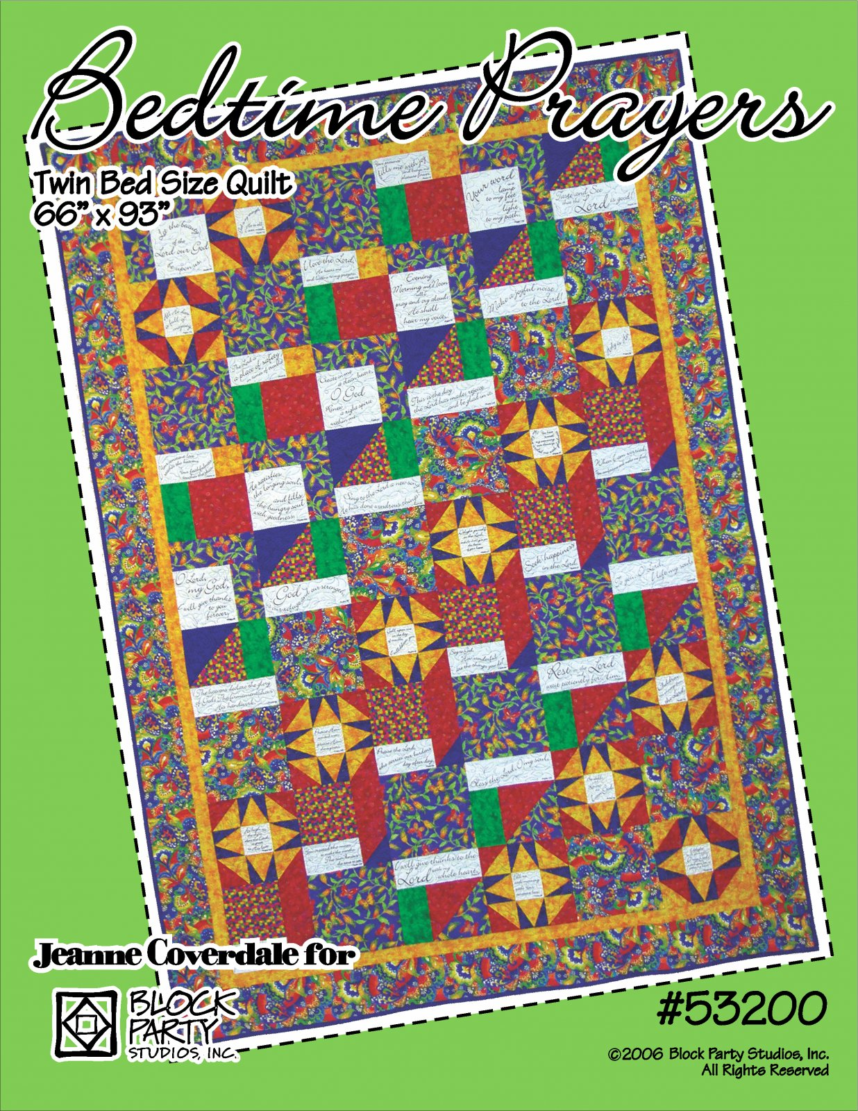 Bedtime Prayers Quilt Pattern and Panels