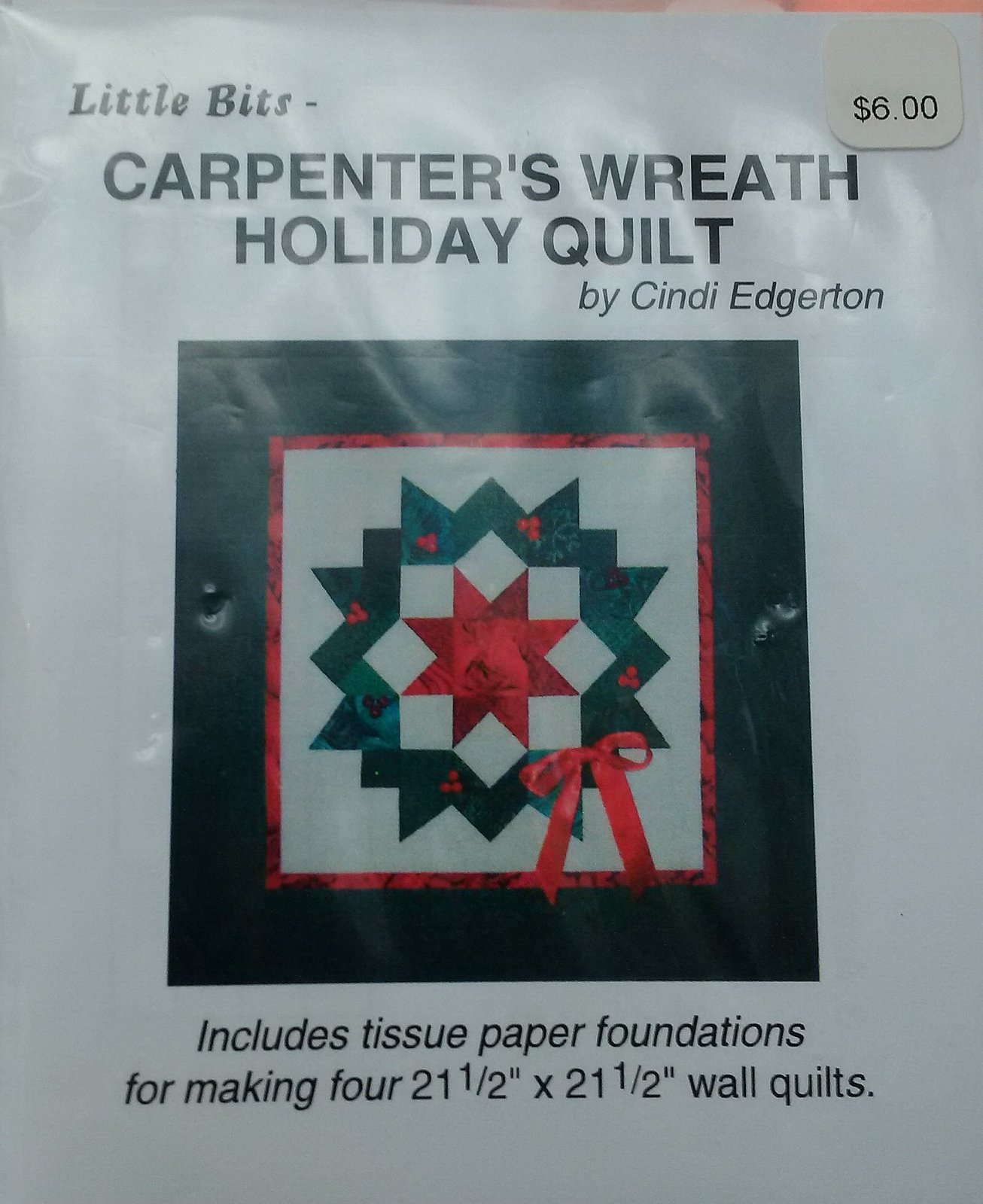 Little Bits Carpenter's Wreath Holiday Quilt Pattern