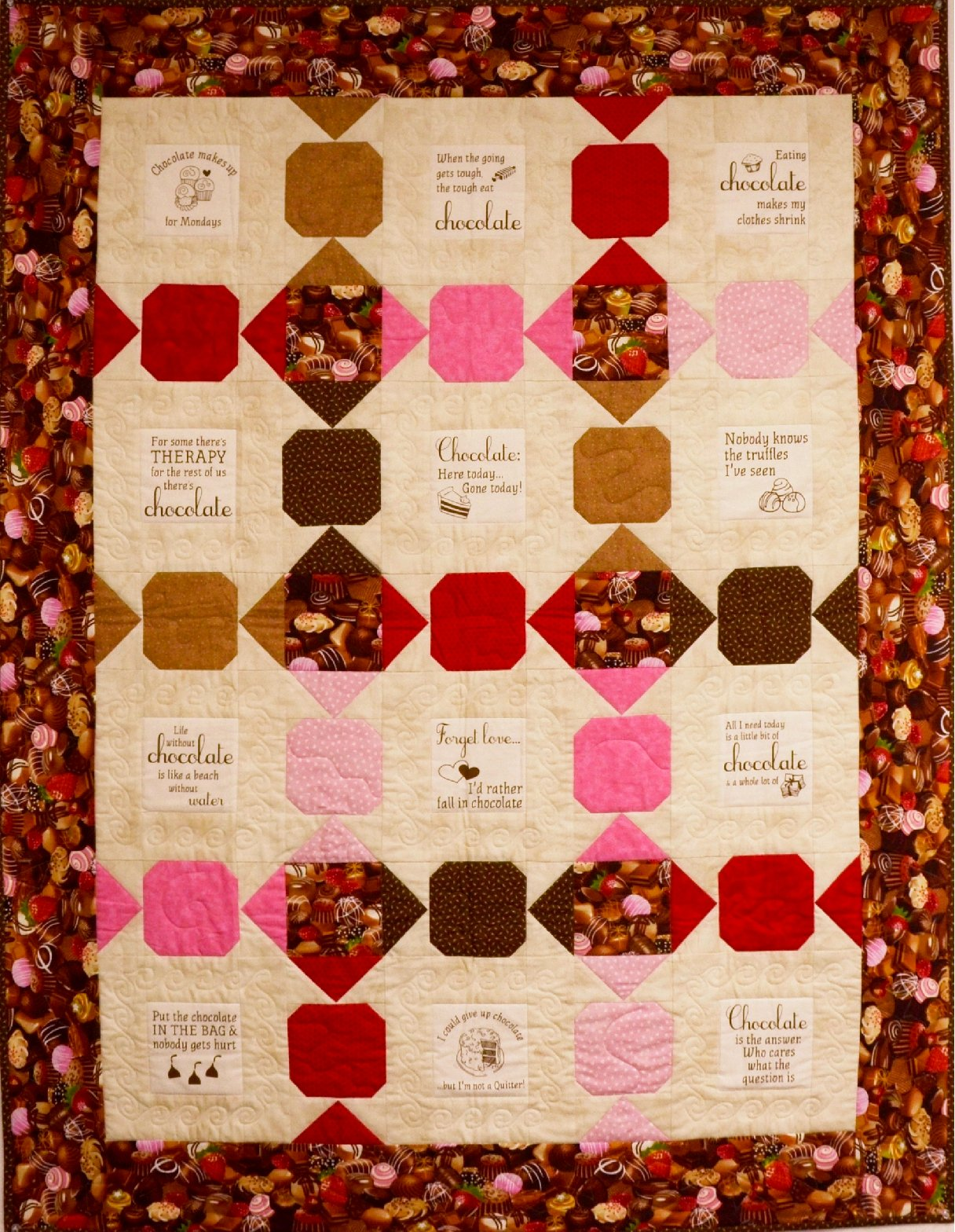 Chocolate is my Passion Quilt Kit