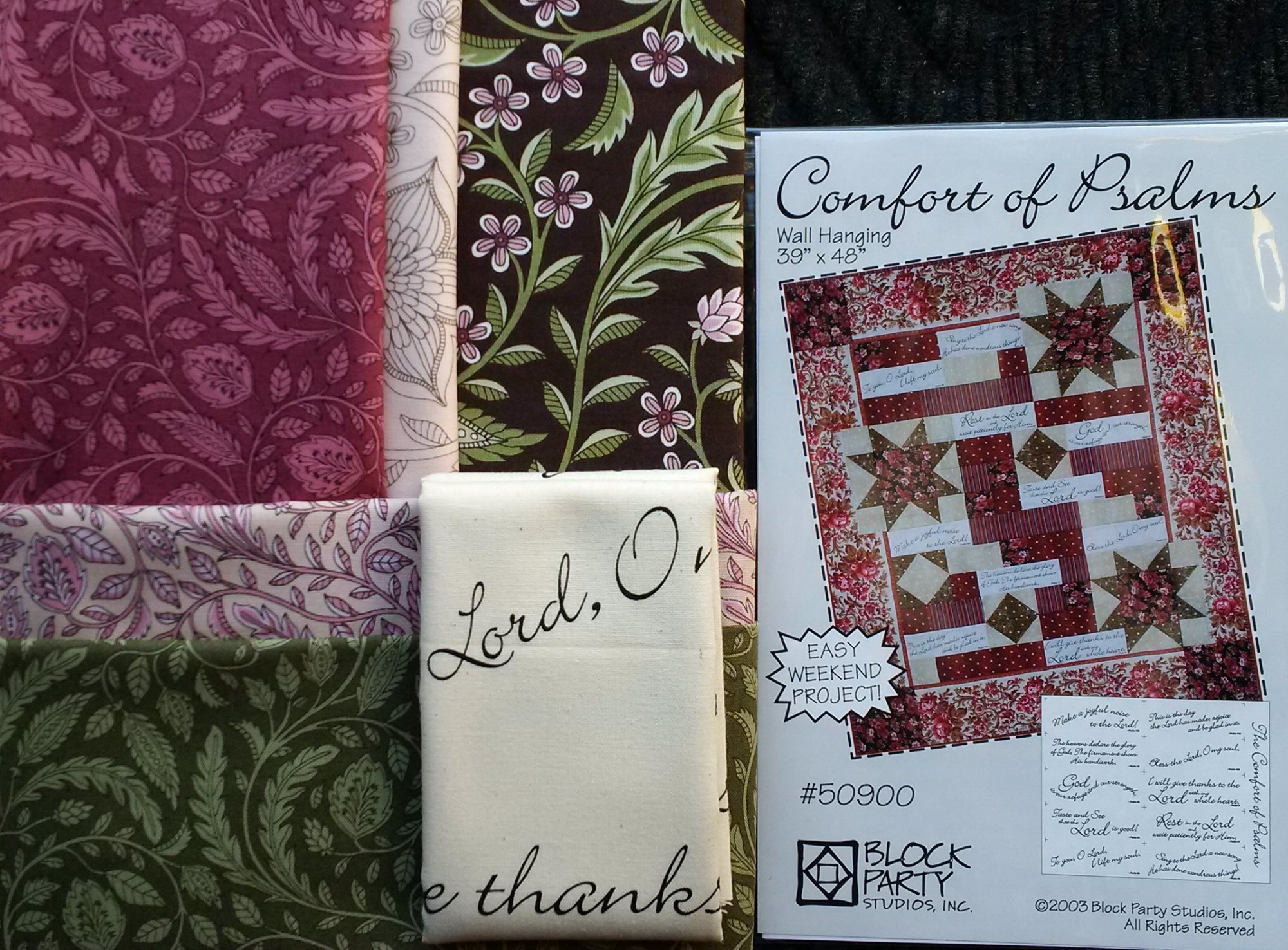 Comfort of Psalms Quilt Fabric Kit