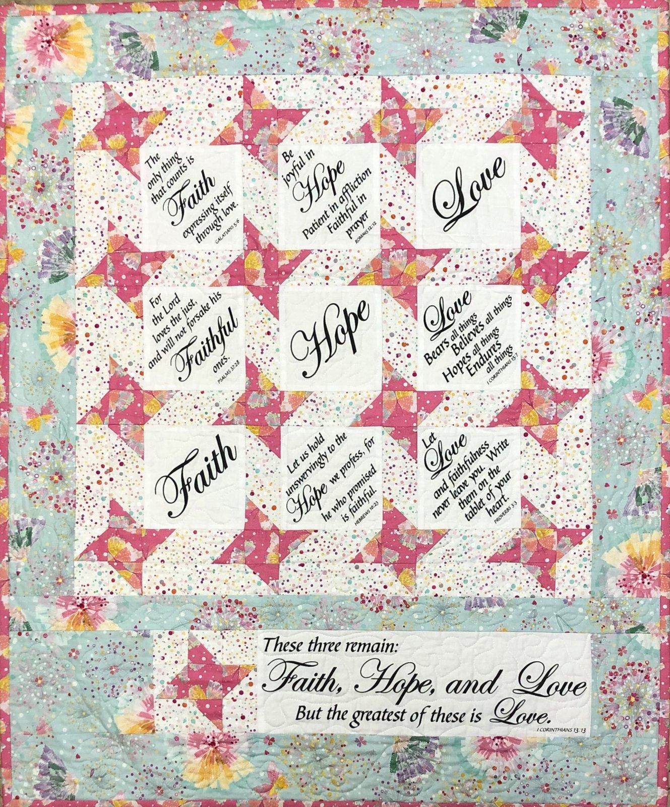 Faith, Hope, and Love Quilt Kit
