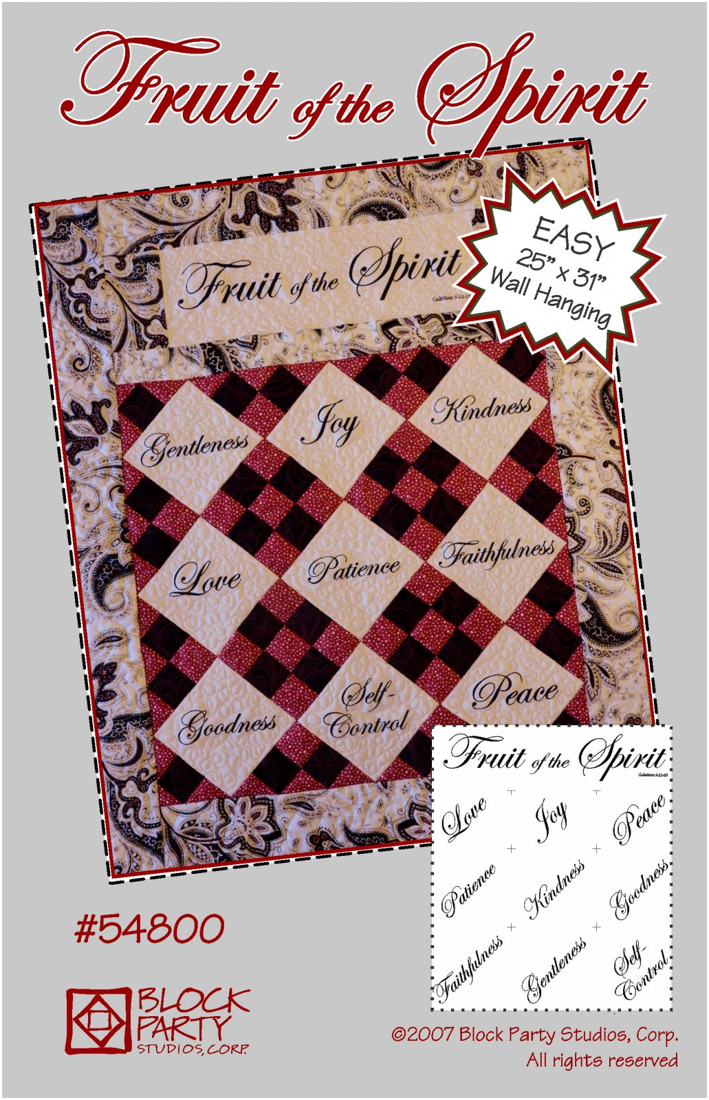 Fruit of the Spirit Quilt Pattern and Panel