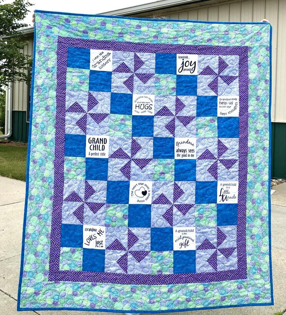 Pinwheels Quilt Kit with Glorious Grandchild