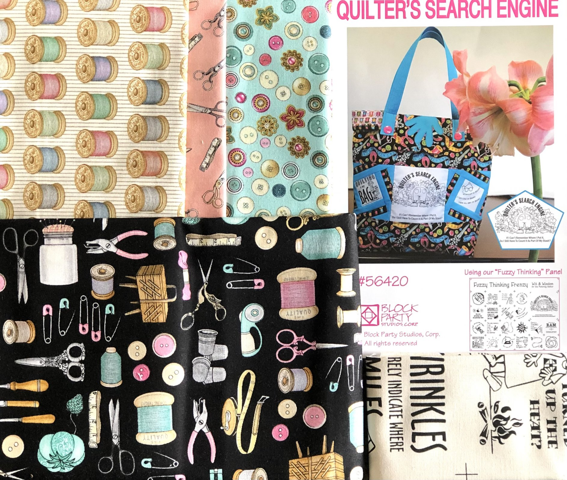 Quilter's Search Engine Tote Bag Kit