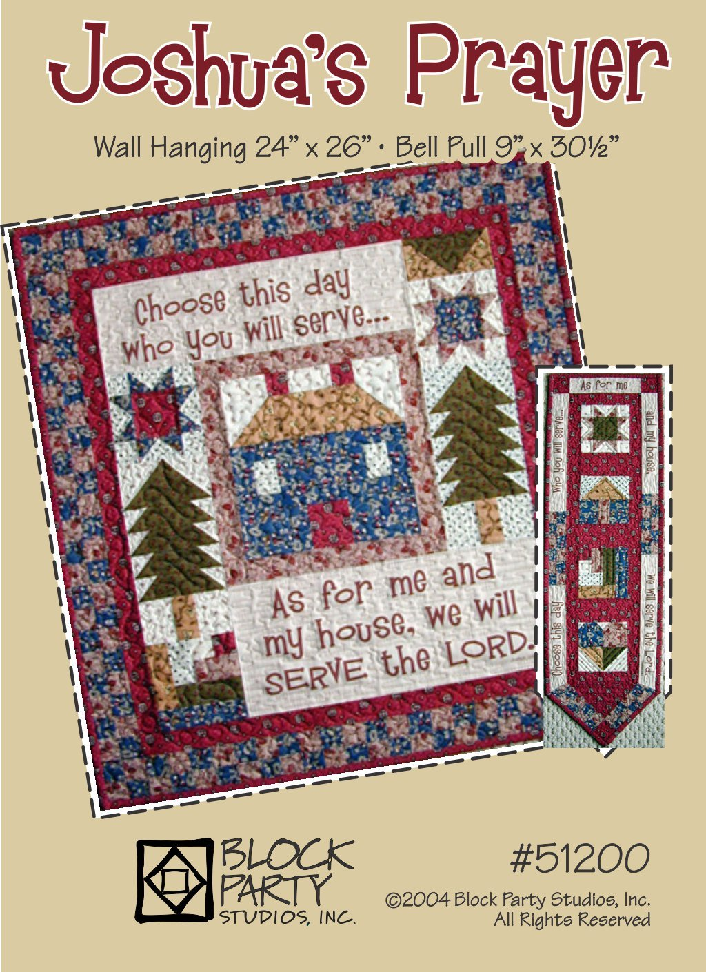 Joshua's Prayer Quilt Pattern Only