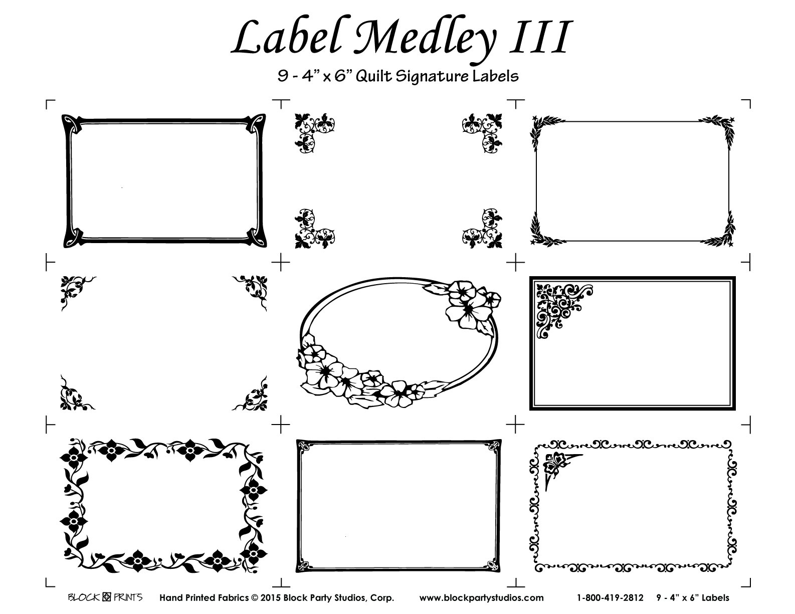 Label Medley III Panel
