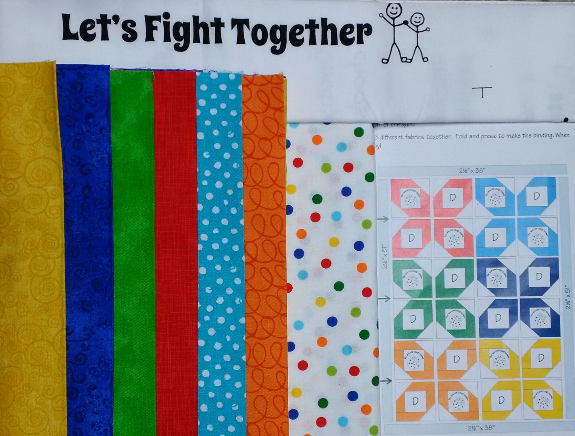 Let's Fight Together Quilt Kit
