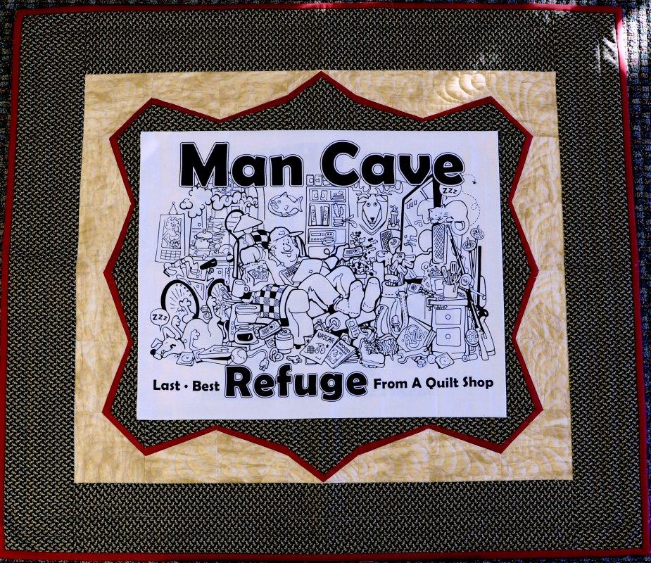 Man Cave Quilt Fabric Kit