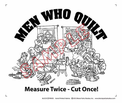 Men Who Quilt Fabric Panel