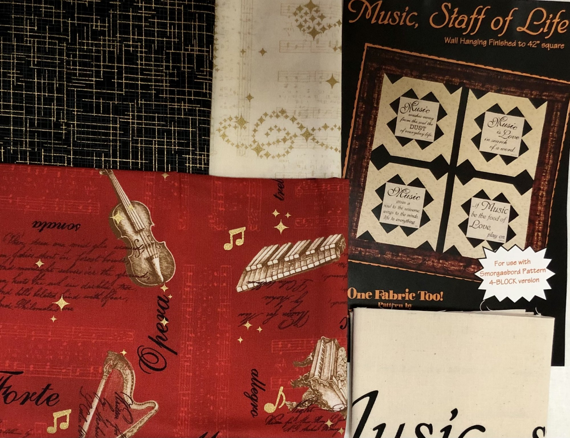Music Staff Of Life Quilt Kit