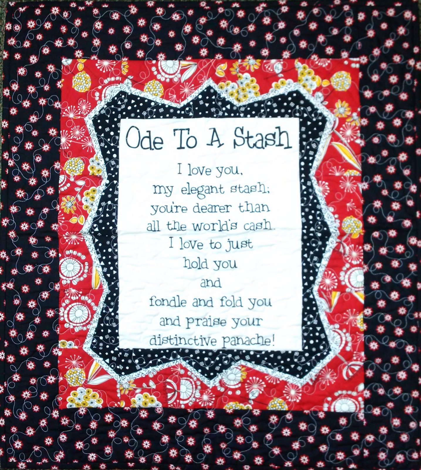 Ode To A Stash Quilt - Black and Red