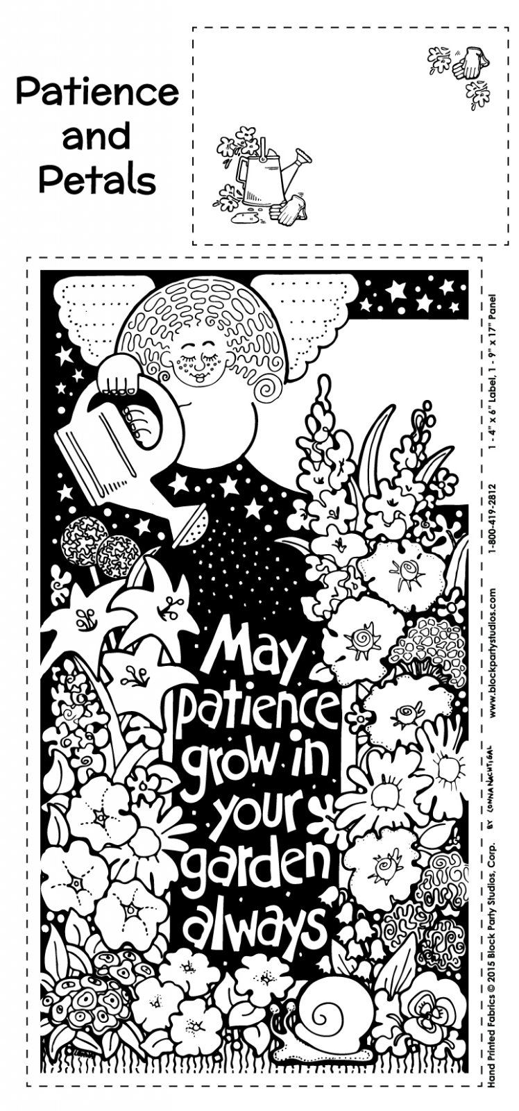 Patience and Petals Panel