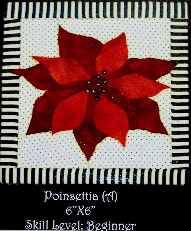 Poinsettia Quilt Foam Board
