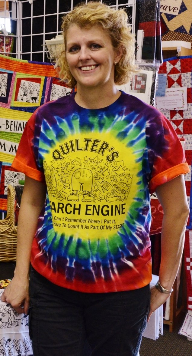 Quilter's Search Engine Tie-Dyed T-Shirt