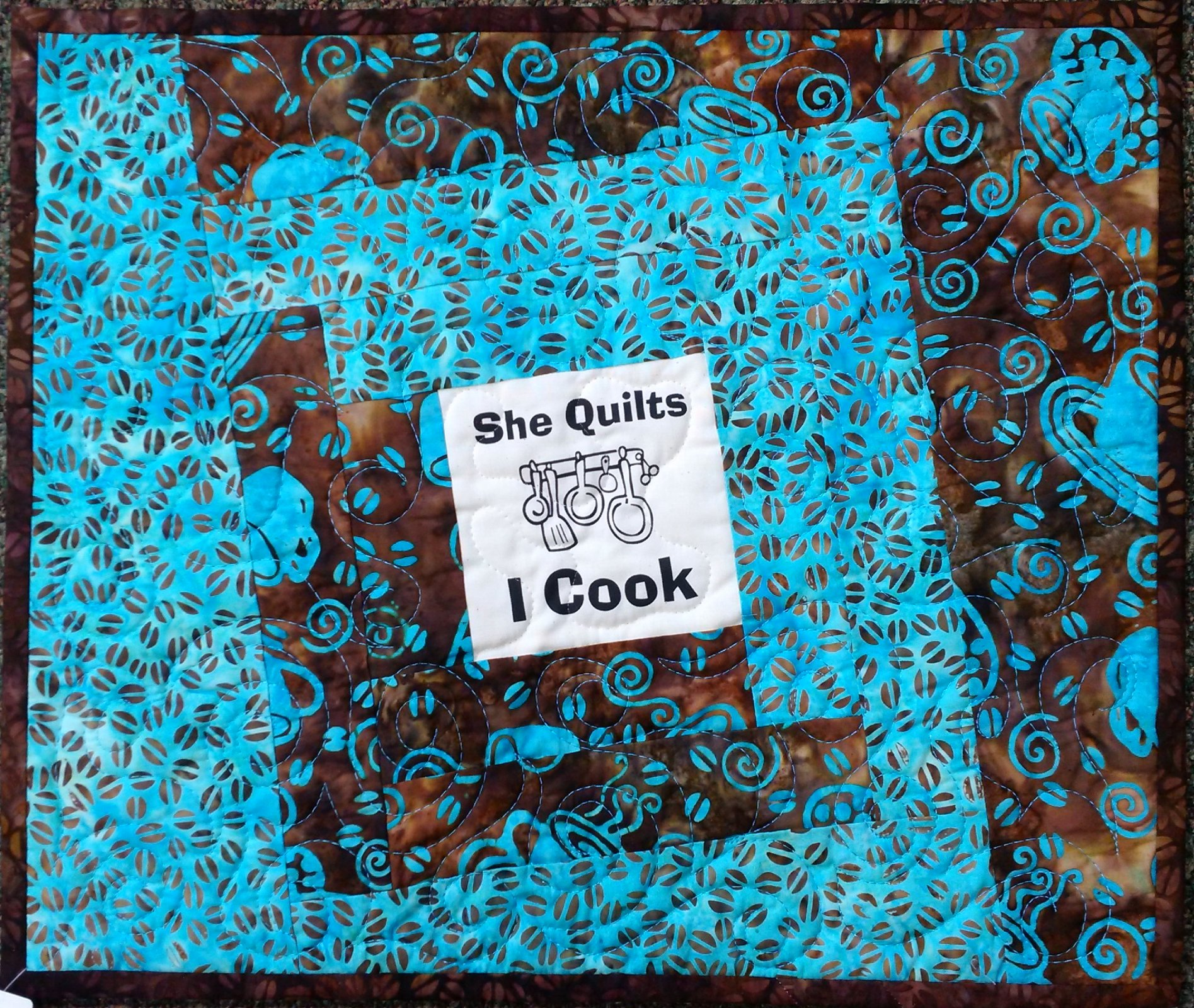 She Quilts I Cook Placemat