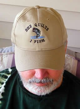 She Quilts - I Fish Cap