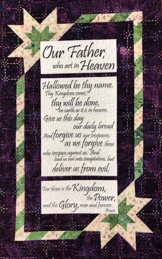 Prayer Chain (The Lord's Prayer Panel) Quilt Kit
