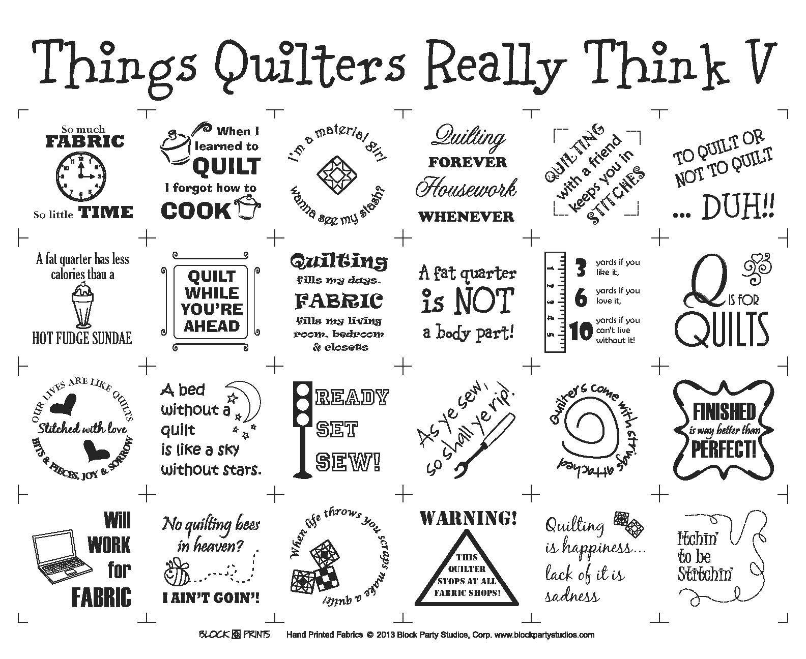 Things Quilters Really Think V Panel