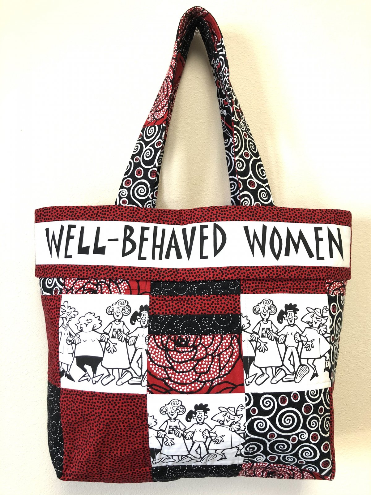 Well Behaved Women Red Tote Bag