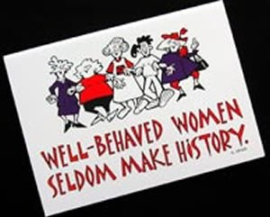 Well-Behaved Women Note Cards