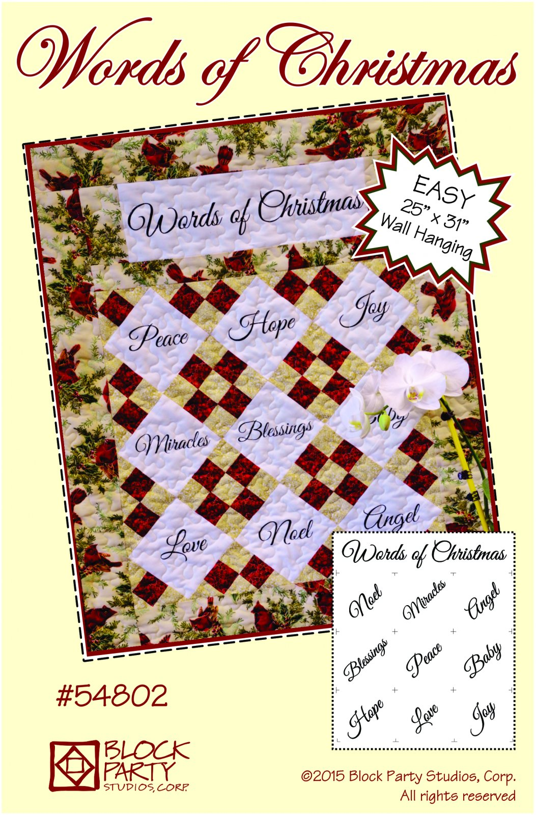 Words of Christmas Pattern Only