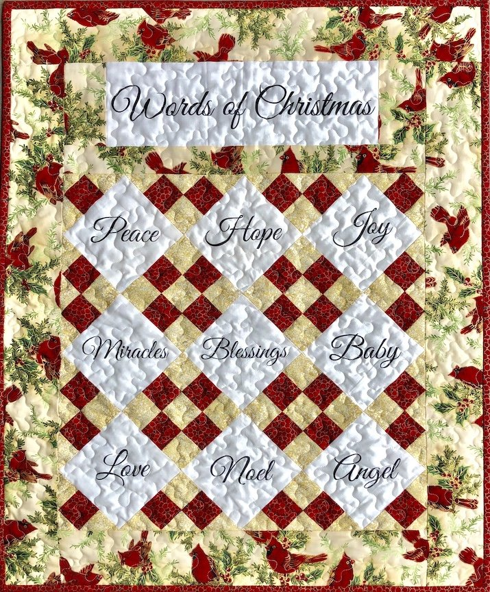 Words of Christmas Quilt Kit