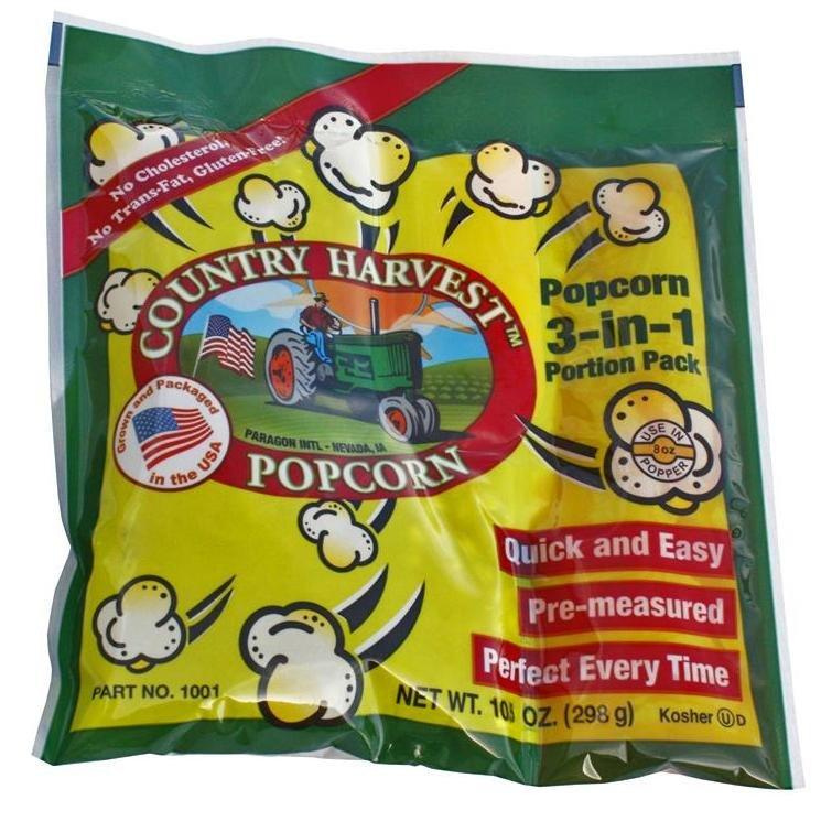 8oz Popcorn Portion Tri-Pack 24/case