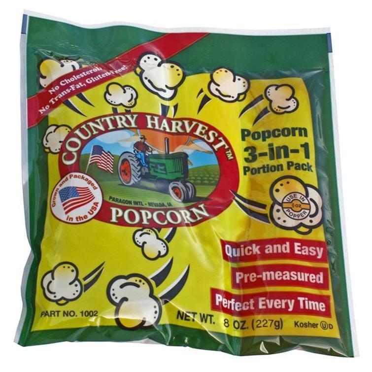 6oz Popcorn Portion Tri-Pack 24/case