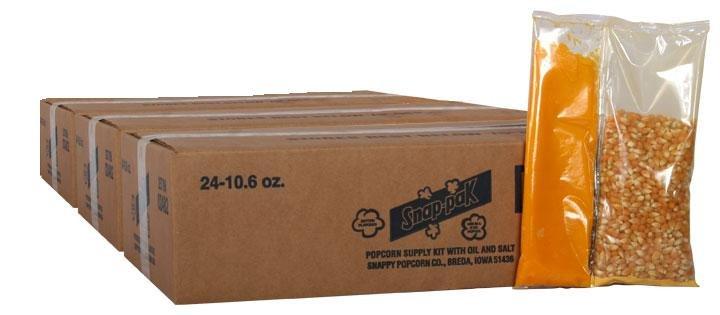 Snappy 8oz Popcorn Snap Packs 72 packs