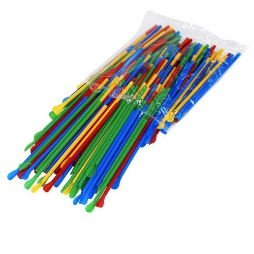 Snow Cone Spoon Straws - Unwrapped 200/bag