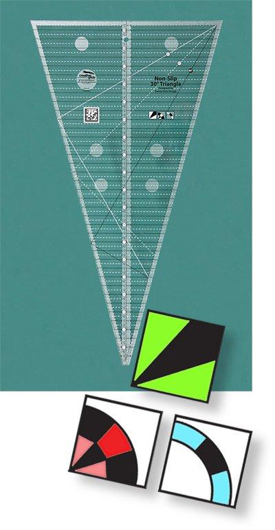 Non-Slip 30 degree Triangle Ruler