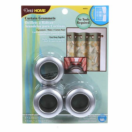 DRITZ HOME PLASTIC GROMMETS 1 BRUSHED SILVER