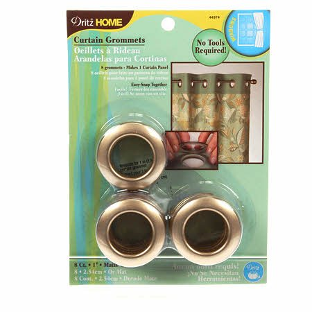 DRITZ HOME PLASTIC GROMMETS 1 MATTE GOLD