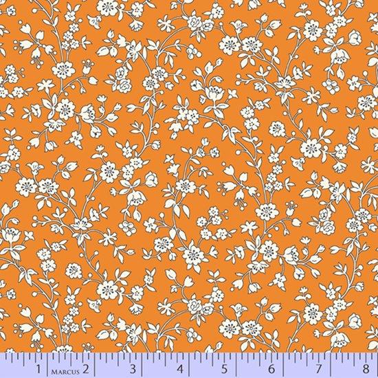 Aunt Grace's Apron -- Orange VInes (7/8 yard)