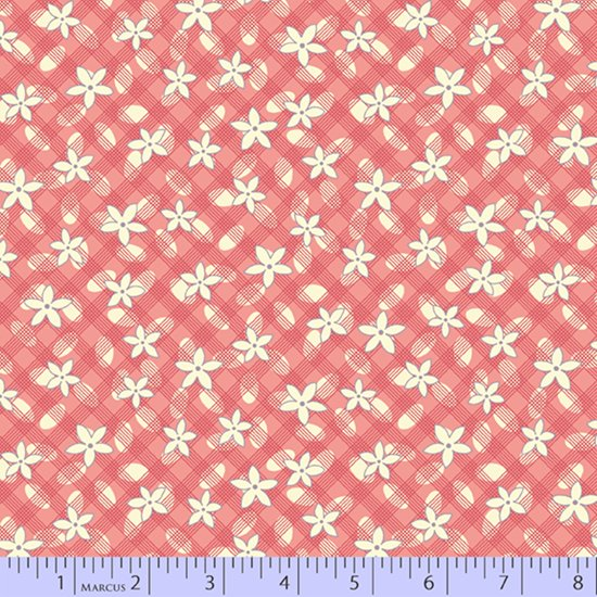 Aunt Grace's Apron --  Pink Lazy Daisy (1 2/3 yard)